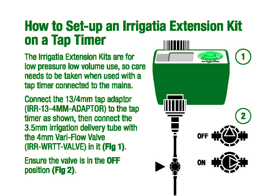 Connecting to Irrigatia extension kits