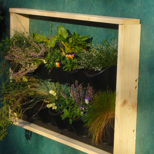 Vertical Picture Garden - Shed mounted