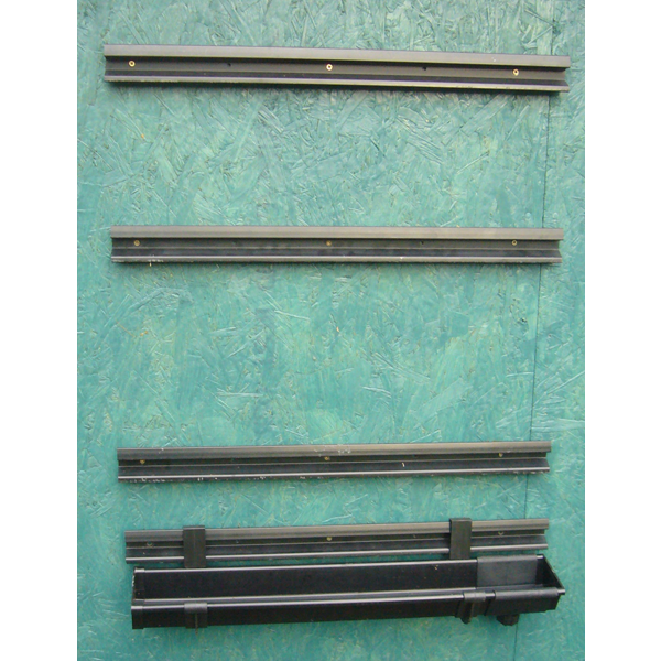 Vertical Planter rails - shed mounted