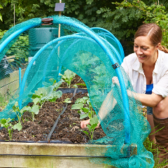 using Irrigatia micro-porous soaker hose in a raised bed